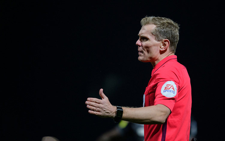 Referee Graham Scott<br /> <br /> Photographer Chris Vaughan/CameraSport<br /> <br /> The EFL Sky Bet League Two - Mansfield Town v Lincoln City - Monday 18th March 2019 - Field Mill - Mansfield<br /> <br /> World Copyright © 2019 CameraSport. All rights reserved. 43 Linden Ave. Countesthorpe. Leicester. England. LE8 5PG - Tel: +44 (0) 116 277 4147 - admin@camerasport.com - www.camerasport.com