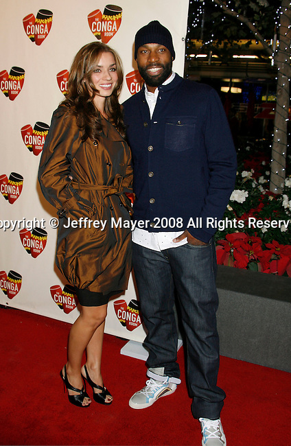 LOS ANGELES, CA. - December 10: NBA Player L.A. Clippers Baron Davis and Rebecca Marshall arrive at The Conga Room Grand Opening At L.A. LIVE on December 10, 2008 in Los Angeles, California.