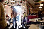 Kendrick Brinson.LUCEO..Inside of the often full Lonnie's Roadhouse, a diner alongside Highway 2 in Williston, North Dakota, January 2012. Williston is currently experiencing an influx of people relocating there for the town's third oil boom...Model Released: no.Assigning Editor: Michael Wichita.