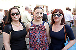 Waterbury, CT- 19 May 2017-051917CM10- SOCIAL MOMENTS-- From left,  Randy Miller of Watertown, Natalie Lawlor, with the Palace Theater and Johna Domizio of Watertown are photographed  during the Palace Theater's Palace 10.2: City Lights, City Nights celebration.  Christopher Massa Republican-American