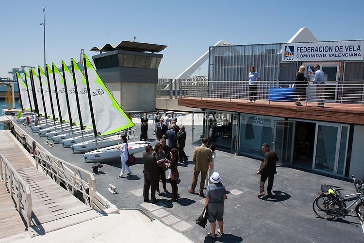 Inauguración oficial de la nuevas instalaciones de la Federación de Vela de la Comunidad Valenciana en la dársena norte de la Marina Real Juan Carlos I