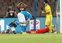 il secondo gol di Eder  durante l'incontro di calcio di Serie A   Napoli -Sampdoria allo  Stadio San Paolo  di Napoli , 30 Agosto 2015