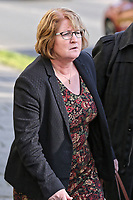 COPY BY TOM BEDFORD<br /> Pictured: Dr Joanne Rowe leaves Newport Coroner's Court. Monday 26 February 2018<br /> Re: Inquest held at Newport Coroner's Court, into the death of five year old Ellie-May Clark who died of an asthma attack, after being refused a GP appointment in Newport, south Wales. <br /> Dr Joanne Rowe refused to see her, on the grounds that her mother was a few minutes late for a booked appointment.<br /> A few hours later, Ellie-May Clark suffered a seizure and died, despite the efforts of an ambulance crew.