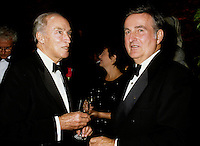 Montreal (Qc) Canada - Sept 1996 File Photo - Pierre Eliott Trudeau andPierre Bourque