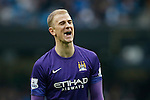 Joe Hart of Manchester City dejected during the Barclays Premier League match at the Etihad Stadium. Photo credit should read: Philip Oldham/Sportimage