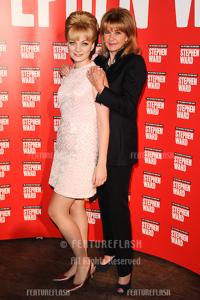 "Charlotte Blackledge, Lord Andrew Lloyd Webber and Mandy Rice Davies at the photocall to launch Lloyd Webber's new musical ""Stephen Ward"" at The Box, Soho, London.  30/09/2013 Picture by: Steve Vas / Featureflash"