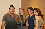 Taylor Tuzzalo with Tyler Christopher - Dominic Zamprogna - Lisa LoCiero - General Hospital actors came to Uncle Vinny's/Ferraras at the Crown Plaza in Trevose, Pennsylvania on April 22, 2010 to see fans with a q & a and autographs and taking of photos. (Photo by Sue Coflin/Max Photos0