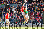 Johnny Buckley Kerry in action against Mark Collins Cork in the National Football League at Pairc Ui Rinn, Cork on Sunday.
