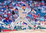 29 June 2017: Chicago Cubs starting pitcher Jon Lester on the mound against the Washington Nationals at Nationals Park in Washington, DC. The Cubs rallied to defeat the Nationals 5-4 and split their 4-game series. Mandatory Credit: Ed Wolfstein Photo *** RAW (NEF) Image File Available ***