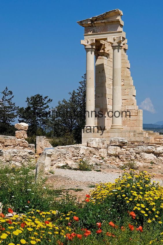 CYPRUS, near Kourion: archaelogical excavation - Temple of Apollo Hylates<br />