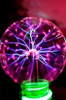 Nova Lima_MG, Brasil...Detalhe de uma bola de plasma...A plasma ball...Foto: NIDIN SANCHES / NITRO