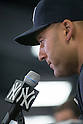 Derek Jeter (Yankees),<br /> FEBRUARY 19, 2014 - MLB : Derek Jeter of the New York Yankees attends a press conference in Tampa, Florida, United States. Jeter has announced he will retire at the end of the 2014 season.<br /> (Photo by Thomas Anderson/AFLO) (JAPANESE NEWSPAPER OUT)