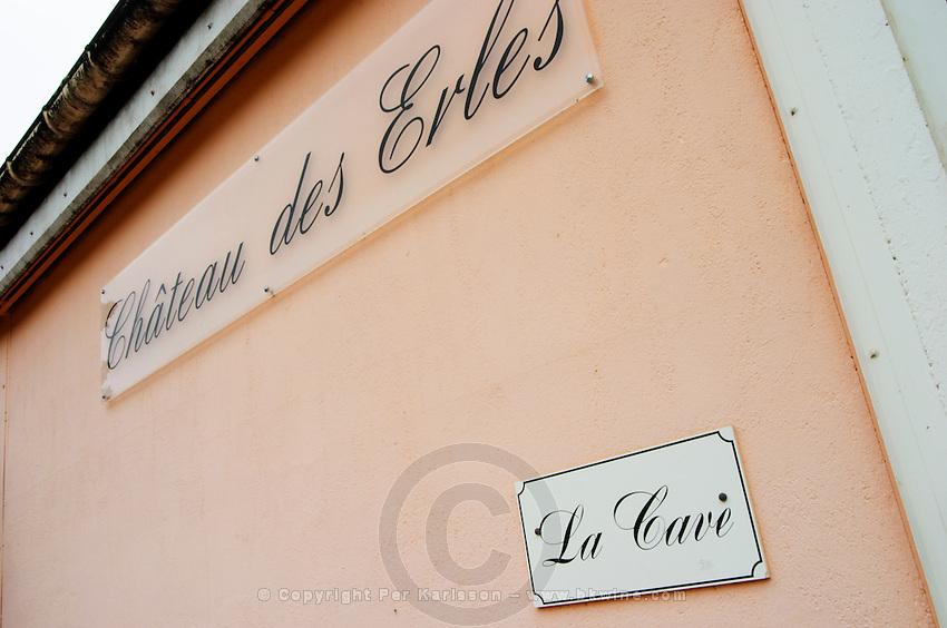 La Cave - the wine cellar. Chateau des Erles. In Villeneuve-les-Corbieres. Fitou. Languedoc. The winery building. France. Europe.