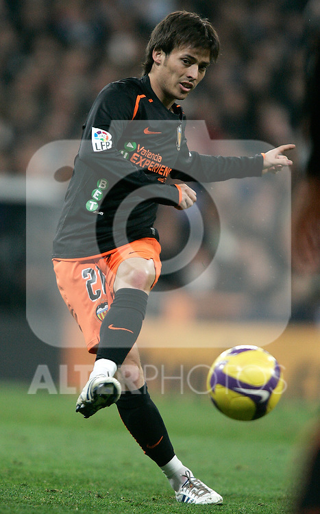 Valencia's David Silva during La Liga match, December 20, 2008. (ALTERPHOTOS).