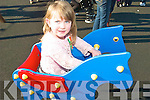 I LIKE IT: Playing with the new toys in Ardfert Playground during the offical opening on Tuesday was Katelyn Moore from Ardfert.