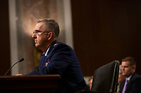 Air Force General John Hyten, who is nominated to become Vice Chairman Of The Joint Chiefs Of Staff, testifies before the U.S. Senate Committee on Armed Services during his confirmation hearing on Capitol Hill in Washington D.C., U.S. on July 30, 2019. Credit: Stefani Reynolds/CNP/AdMedia