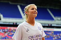 HARRISON, NJ - SEPTEMBER 29: Erin Greening #19 of the Orlando Pride during a game between Orlando Pride and Sky Blue FC at Red Bull Arena on September 29, 2019 in Harrison, New Jersey.