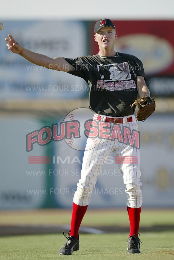 Corey Hart of the High Desert Mavericks plays in a California League game at Stater Bros. Stadium during the 2002 season in Adelanto, California. (Larry Goren/Four Seam Images)