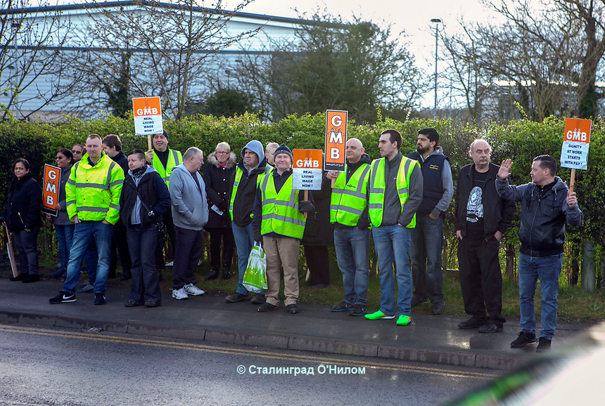 Arcadia DHL Depot workers, Solihull, Birmingham, Strike Action, 31st Mar 2017