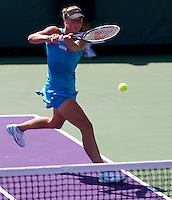 Yanina WICKMAYER (BEL) against Petra MARTIC (CRO) in the second round of the women's singles. Wickmayer beat Martic 6-3 6-3..International Tennis - 2010 ATP World Tour - Sony Ericsson Open - Crandon Park Tennis Center - Key Biscayne - Miami - Florida - USA - Sat 27 Mar 2010..© Frey - Amn Images, Level 1, Barry House, 20-22 Worple Road, London, SW19 4DH, UK .Tel - +44 20 8947 0100.Fax -+44 20 8947 0117