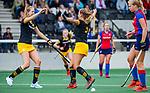 AMSTELVEEN - Faye Muijderman  (Den Bosch) scoort .  . finale Den Bosch MA1-SCHC MA1 4-1. Den Bosch wint de titel Meisjes A . finales A en B jeugd  Nederlands Kampioenschap.  COPYRIGHT KOEN SUYK