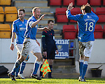 St Johnstone v St Mirren....21.03.15<br /> Steven Anderson celebrates his goal<br /> Picture by Graeme Hart.<br /> Copyright Perthshire Picture Agency<br /> Tel: 01738 623350  Mobile: 07990 594431