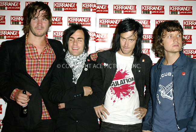 International Noise Conspiracy at the 2004 Kerrang Awards held at The Brewery, London, 26 August 2004. ..FAMOUS PICTURES AND FEATURES AGENCY.tel  +44 (0) 20 7731 9333.fax +44 (0) 20 7731 9330.e-mail info@famous.uk.com.www.famous.uk.com.FAM13407
