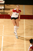 10 November 2005: Erin Waller during Stanford's 3-0 win over Arizona State at Maples Pavilion in Stanford, CA.