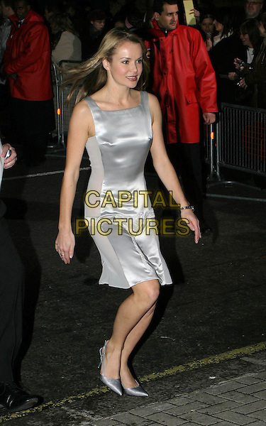 AMANDA HOLDEN.National Television Awards, Royal Albert Hall.full length, full-length, silver dress, stilettos.www.capitalpictures.com.sales@capitalpictures.com.© Capital Pictures.