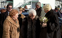 FILE PHOTO - Rene Angeli,Celine Dion and her mother attend Celine's father Adhemar Dion funeral's <br /> December 4, 2003<br /> <br /> PHOTO : Agence quebec Presse