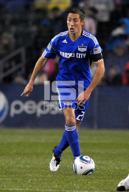 Davy Arnaud...Kansas City Wizards defeated D.C Utd 4-0 in their home opener at Community America Ballpark, Kansas City, Kansas.