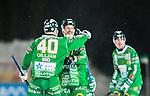 Stockholm 2015-01-16 Bandy Elitserien Hammarby IF - IFK Kung&auml;lv :  <br /> Hammarbys Adam Gilljam firar sitt 5-3 m&aring;l med Per Einarsson under matchen mellan Hammarby IF och IFK Kung&auml;lv <br /> (Foto: Kenta J&ouml;nsson) Nyckelord:  Elitserien Bandy Zinkensdamms IP Zinkensdamm Zinken Hammarby Bajen HIF IFK Kung&auml;lv jubel gl&auml;dje lycka glad happy