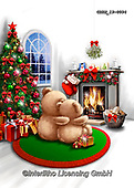 Roger, CHRISTMAS ANIMALS, WEIHNACHTEN TIERE, NAVIDAD ANIMALES, paintings+++++,GBRM19-0094,#xa#
