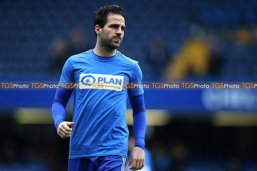 Cesc Fabregas of Chelsea during warm up during Chelsea vs Crystal Palace, Premier League Football at Stamford Bridge on 1st April 2017