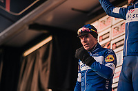 5 hours of racing in sub-zero temperatures, leaves Philippe Gilbert (BEL/Quick Step floors) with painful 'frozen' eyes<br /> <br /> 50th GP Samyn 2018<br /> Quaregnon &gt; Dour: 200km (BELGIUM)