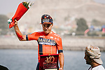 Domenico Pozzovivo (ITA) Bahrain-Merida finishes 2nd overall after Stage 6 of the 10th Tour of Oman 2019, running 135.5km from Al Mouj Muscat to Matrah Corniche, Oman. 21st February 2019.<br /> Picture: ASO/P. Ballet | Cyclefile<br /> All photos usage must carry mandatory copyright credit (&copy; Cyclefile | ASO/P. Ballet)