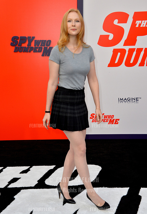 Molly Quinn at the world premiere for &quot;The Spy Who Dumped Me&quot; at the Fox Village Theatre, Los Angeles, USA 25 July 2018<br /> Picture: Paul Smith/Featureflash/SilverHub 0208 004 5359 sales@silverhubmedia.com