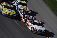 Apr 25, 2009; Talladega, AL, USA; NASCAR Nationwide Series driver David Ragan leads a pack of cars during the Aarons 312 at the Talladega Superspeedway. Mandatory Credit: Mark J. Rebilas-