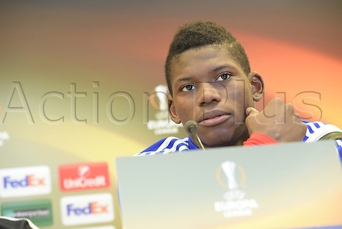 17.02.2016. St Etienne, France. Europa League Football. Press conference and practise for FC Basel.    Breel Embolo (Basel)