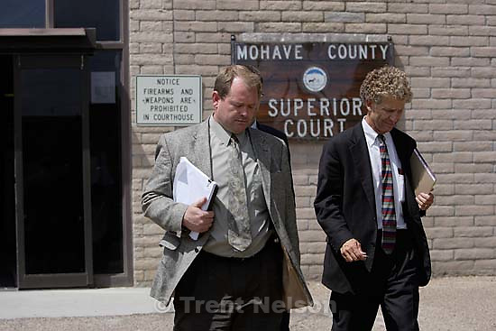 Colorado City, AZ resident Kelly Fischer leaves the Mohave County Superior Court after being convicted of two felony counts: sexual conduct with a minor and conspiracy to commit sexual conduct with a minor. The trial was being held at the Mohave County Superior Court in Kingman, Arizona. 7.07.2006<br />