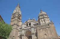 Spain, Toledo. A UNESCO World Heritage Site 70 K south of Madrid. Once home to Christian, Muslim and Jewish cultures. Toledo cathedral.
