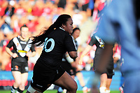 Lilieta Maumau in action during the Women's Rugby League World Cup warmup match between the Kiwi Ferns and Wahine Toa at the FMG Stadium in Hamilton, New Zealand on Saturday, 4 November 2017. Photo: Dave Lintott / lintottphoto.co.nz