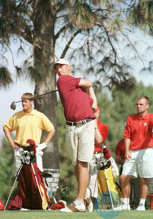 May 30 1998: James McLean of the University of Minnesota drives on the 14th Hole of the NCAA Mens Division 1 golf finals.   McLean went on to win the tournament while his team placed seventh overall.  The tournament was played on the University of New Mexico Golf Course in Albuquerque, New Mexico.  Natasha Lane/ NCAA Photo