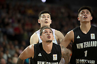 New Zealand Tall Blacks&rsquo; Issac Fotu in action during the FIBA World Cup Basketball Qualifier - NZ Tall Blacks v China at Spark Arena, Auckland, New Zealand on Sunday 1 July 2018.<br /> Photo by Masanori Udagawa. <br /> www.photowellington.photoshelter.com