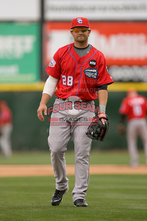 Third baseman Kory Casto #28 of the Syracuse Chiefs on defense versus the Charlotte Knights at Knights Castle May 3, 2009 in Fort Mill, South Carolina. (Photo by Brian Westerholt / Four Seam Images)