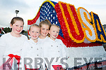 Isabel O'Sullivan-Waters,  Laura Healy, Ella Barrett and Amy Healy celebrated the 4th July at the USA Independence parade in Killarney on Monday evening