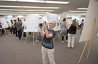 Biology professor Gretchen North. After researching all summer, Occidental College students present their work at the annual Summer Undergraduate Research Conference on July 29, 2015.<br /> (Photo by Marc Campos, Occidental College Photographer)
