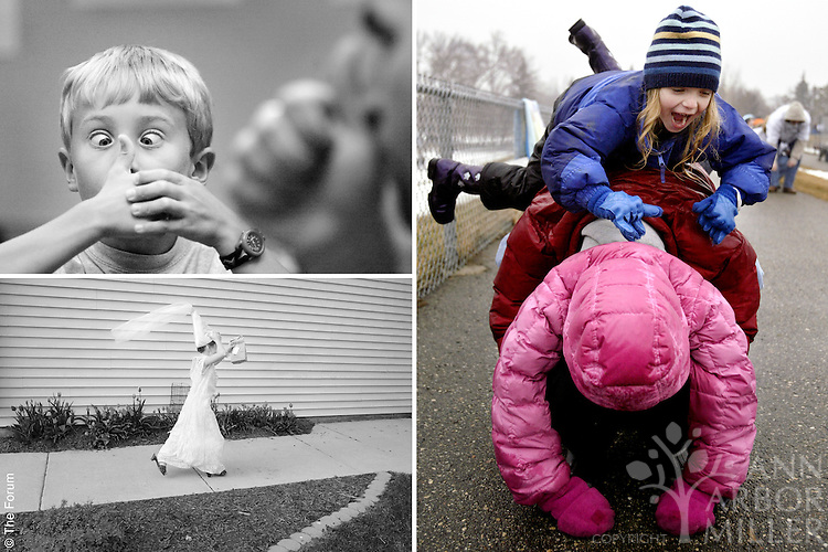A selection of three feature photographs featuring children.