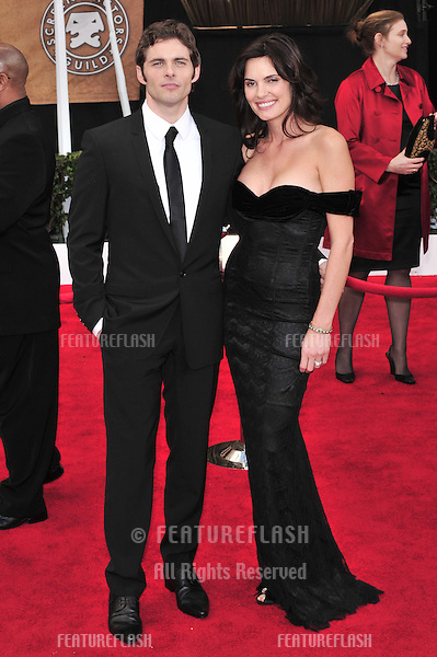 James Marsden & wife Lisa Linde at the 14th Annual Screen Actors Guild Awards at the Shrine Auditorium, Los Angeles, CA..January 27, 2008  Los Angeles, CA..Picture: Paul Smith / Featureflash