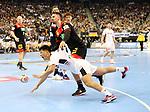 10.01.2019, Mercedes Benz Arena, Berlin, GER, Handball WM 2019, Deutschland vs. Korea, im Bild <br /> Fabian Wiede (GER #10), JI Hyung Jin (Korea #2)<br /> <br />      <br /> Foto © nordphoto / Engler